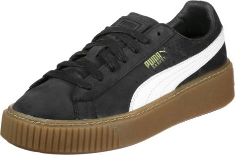 Puma Basket Platform PERFORATED Perf Gum (366807-02) schwarz