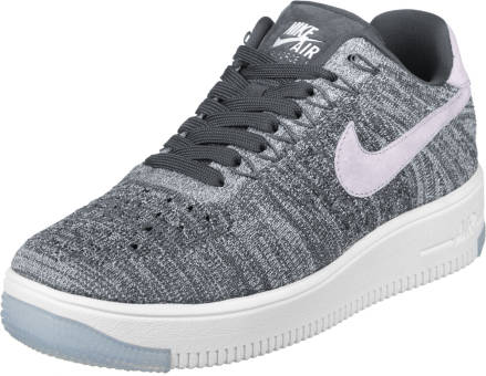 Nike Air Force W 1 Flyknit Low (820256-008) grau