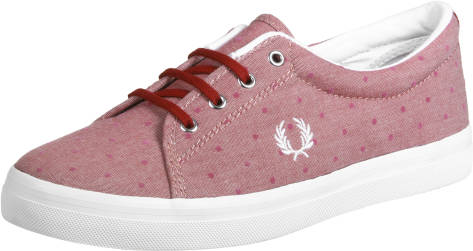 Fred Perry Aubyn Flocked Chambray W Lo Sneaker (B1157W842) rot
