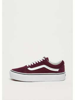 Vans Old Skool Platform Sneakers Port Royale rot Steckdose Footaction WFafxn4H4