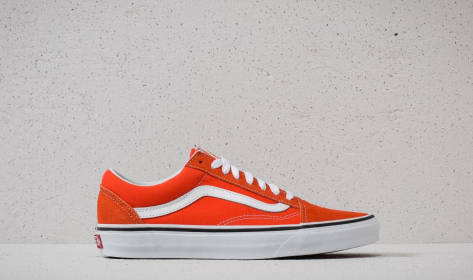 Vans Old Skool Flame/ True White rot Billige Neue Stile L1HoX