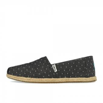 TOMS Rope Black Dot Sole Chambray (10011653) schwarz