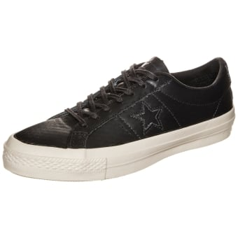 Converse Cons One Star Leather OX (153705C) schwarz