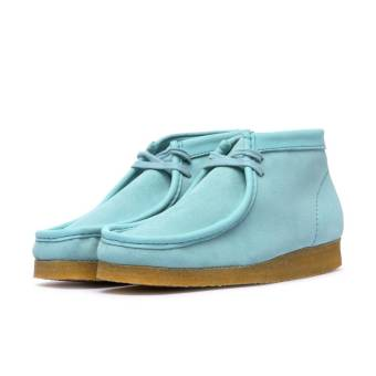 Clarks Wallabee Boot Made in Italy (WallabeeBoot_LightBlue) blau