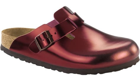 Birkenstock Boston NL WB Metallic (1001661) rot