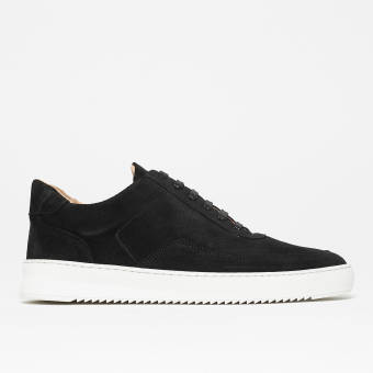 Filling Pieces Low Mondo Ripple Nardo Suede (24526221861) schwarz