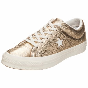 Converse Cons One Star Metallic OX Leather (161589C) gelb
