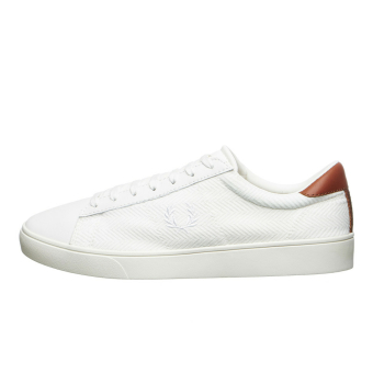 Fred Perry Spencer Herringbone Knit Leather (B9073-254) weiss