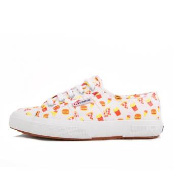 Superga 2750 Tres Click W Fast Food Emoticon (9920067317877) weiss