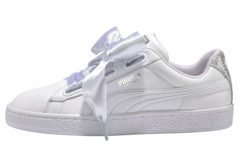PUMA Sneaker 'Basket Heart Bio Hacking' in silber weiß
