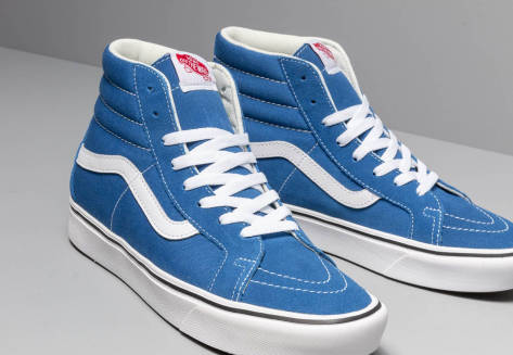 Suede and Canvas Comfycush Sk8 Hi Reissue Shoes