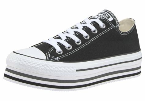 Converse Chuck Taylor All Star Platform Layer Ox (563970C) schwarz