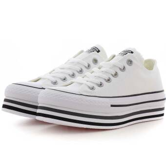 Converse Chuck Taylor All Star Platform Layer Ox (563971C) weiss
