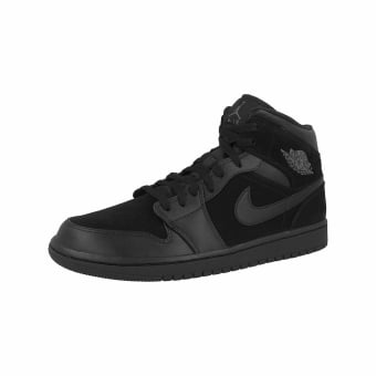 check out 4c843 4f934 Nike Air Jordan 1 Mid in schwarz - 554724-050   everysize