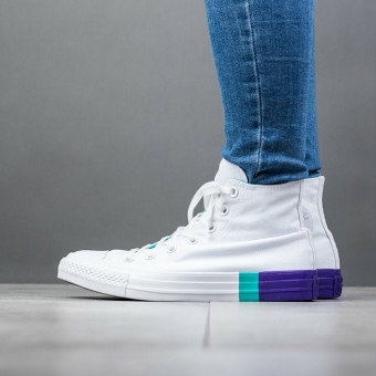 Converse Chuck Taylor All Star Hi Colorblock (159519C) weiss