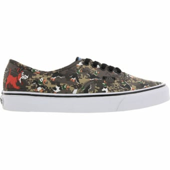 Vans Authentic Nintendo - Duck Hunt (V4MLJP7) grün