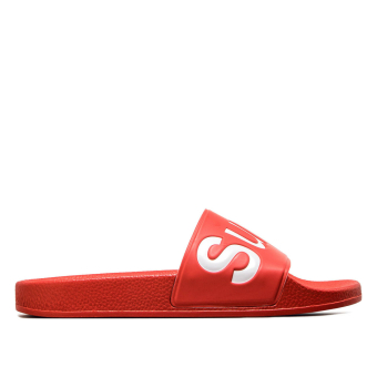 Superga Damen Slide S00DUL0  White (S00DUL0 1908) rot
