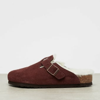premium selection 1c69d a61e0 Birkenstock Boston Shearling port in rot - 1012250 | everysize
