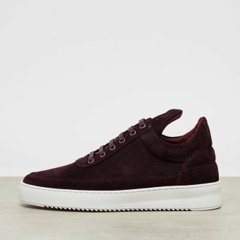 Filling Pieces Low Top Waxed Suede (25122591912) rot