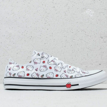 Converse x Hello Kitty Chuck Taylor All Star Ox (163916C) weiss