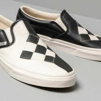 Vans Classic Slip-On (Woven Leather) (VN0A38F7VMW1) schwarz