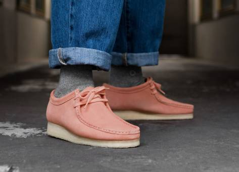 Clarks Wallabee (26140973) pink