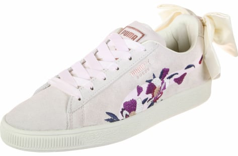 PUMA Suede Bow Flowery (367812-01) pink