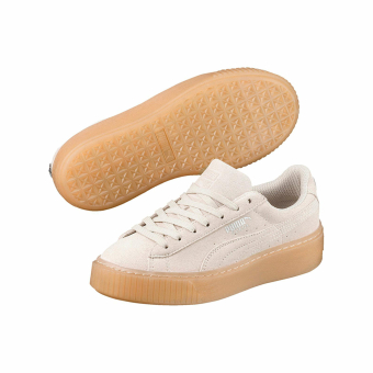 PUMA Suede Platform Jewel jr whisper white (365131 02) braun
