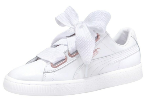 PUMA Basket Heart Leather (367817 01) weiss