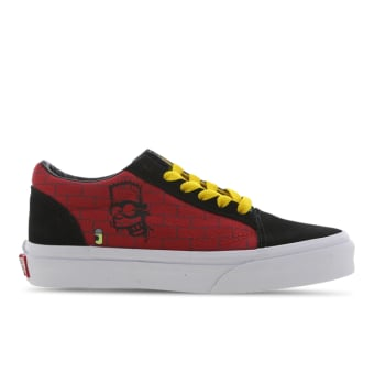 Vans Old Skool The Simpsons El Barto Velcro (VN0A4BUU17A) rot