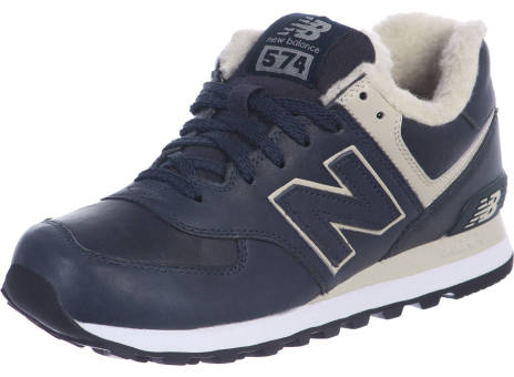 New Balance Ml574 Leather Fur (382781-60 10) blau