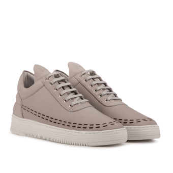 Filling Pieces Low Top Perforated Down (10120541814042) grau