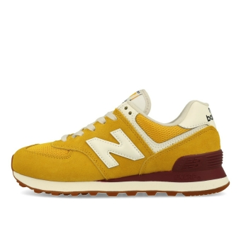 New Balance WL 574 VE2 Damen Varsity Gold Light Burgundy (WL574VE2-770) gelb
