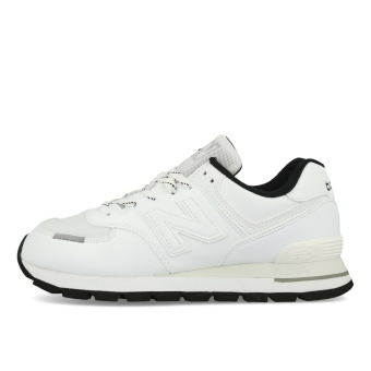 New Balance ML 574 Rugged DTA Herren White Black (ML574DTA-100) weiss