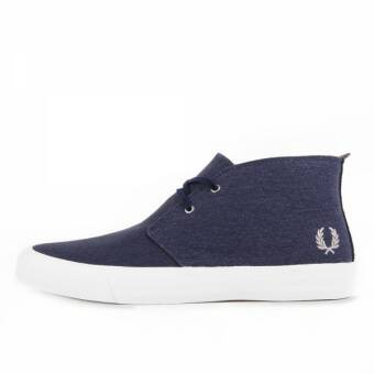 Fred Perry Vernon Mid Waxed Canvas Carbon Blue (B7439-266) blau
