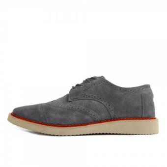 TOMS Brogue Forged Iron Grey Suede (10009008) grau