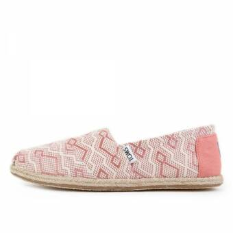 TOMS Classics Clay Diamond Jacquard Rope Sole (10009701) pink