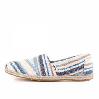 TOMS Womens Classics Blue Aster Woven Stripe Rope Sole (10009700) braun