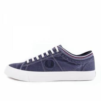Fred Perry Kendrick Tipped Cuff Overdyed Canvas Navy (B1145-608) blau