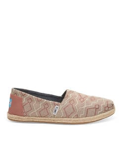 TOMS Classic Clay Diamond Espadrilles  (CLAY DIAMOND) (10009701-CLAY DIAMOND) braun