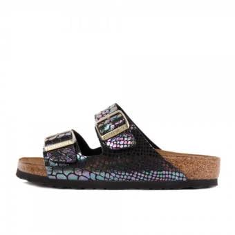 Birkenstock Arizona Shiny Snake Black (1003462) bunt