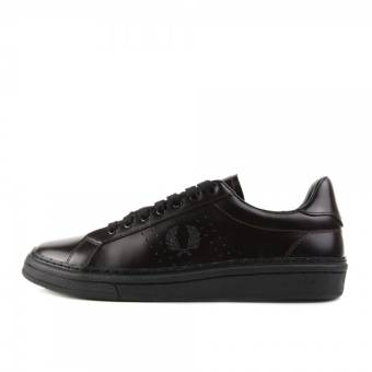 Fred Perry B721 High Shine Leather Ox Blood (B2085-158) schwarz