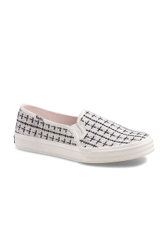 Keds DOUBLE DECKER METALLIC BOUCLE TEXTILE (WF55718) weiss