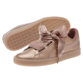 puma damen basket heart rose