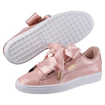 puma damen basket heart weiss
