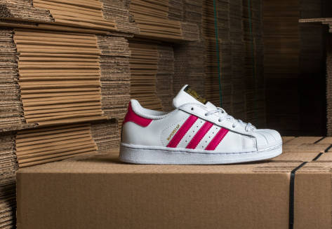 adidas Originals Superstar I FtwWhite/ BoPink/ FtwWhite (BB9077) weiss