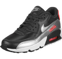 Nike Air Max 90 Mesh Gs Running Sneaker (833340-009)