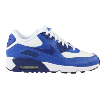 Nike Air Max 90 Leather (GS) White Sneaker (833412 105)