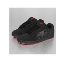 Etnies Metal Mulisha Fader Low Top Sneakers Black/Black/Red Sneaker (4107000233547)