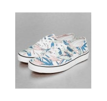 Vans Authentic Tropical Leaves Sneakers True White Sneaker (VEMMQN)